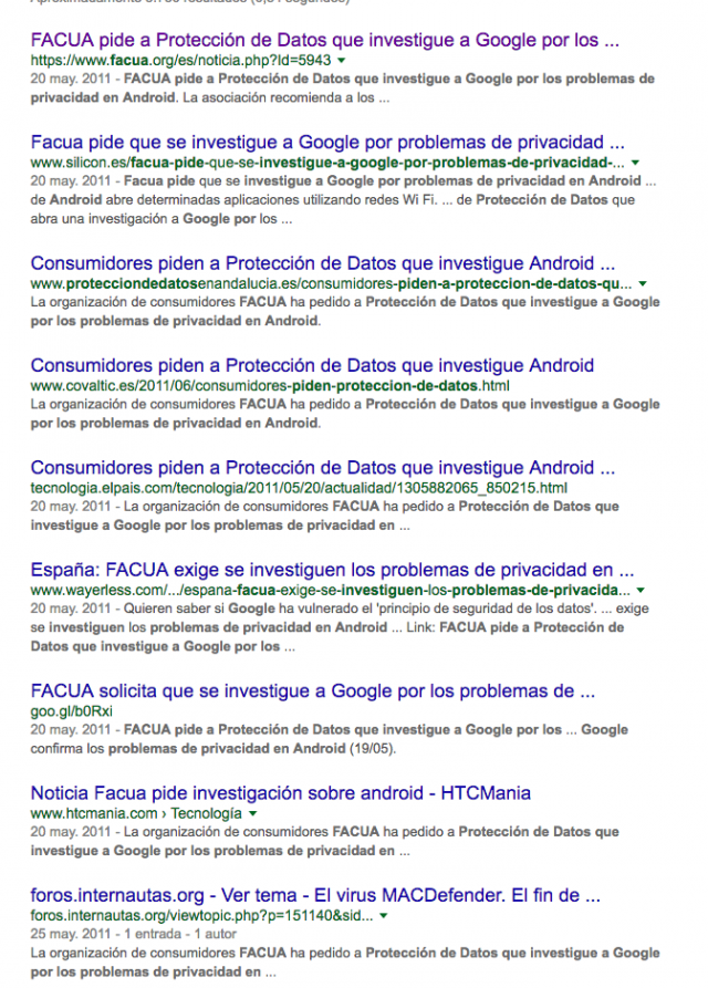 facua android