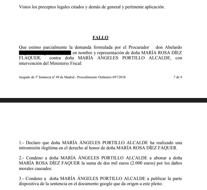 Angeles Portillo condena